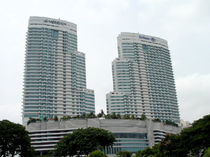 Hilton and Meridian Hotel